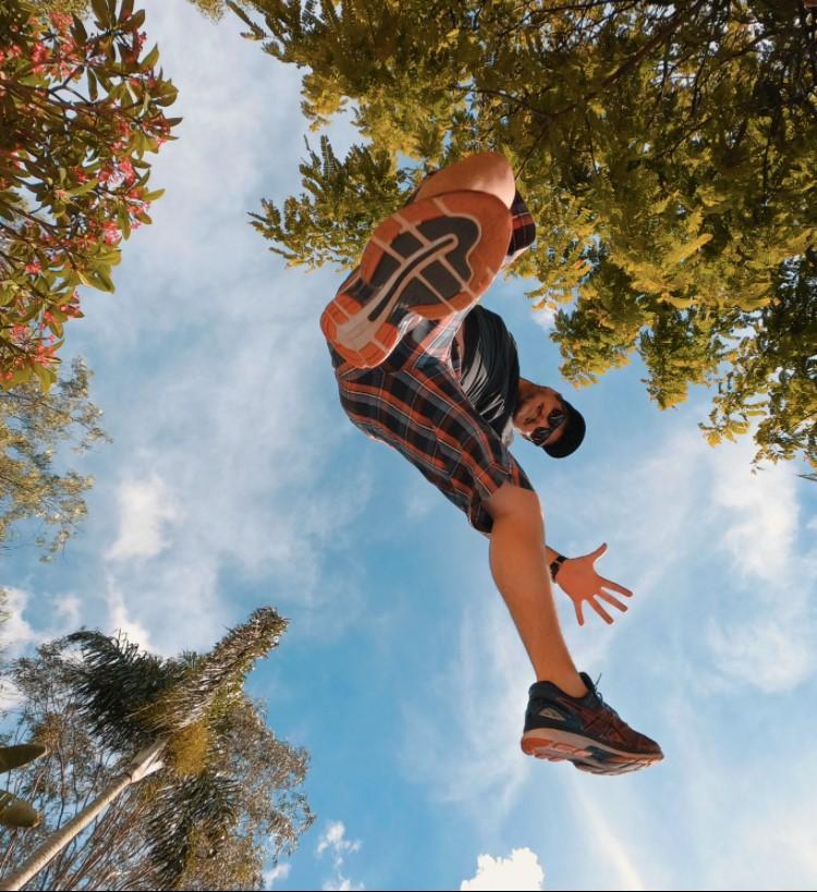 Salto por cima da GoPro